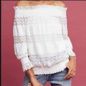 Anthropologie Deletta Riley Off The Shoulder Top